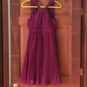 Bridesmaid Dress Wine Knee Length